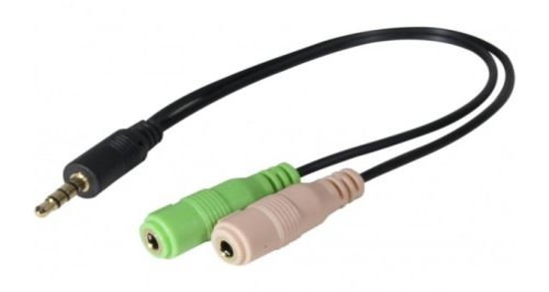 Adaptateur Vshop jack male vers 2 jack femelle micro et casque stereo PC99