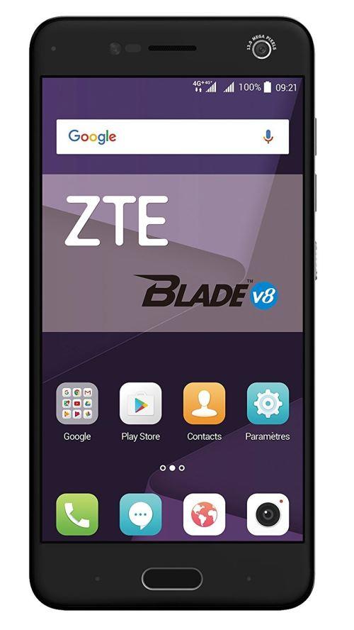 ZTE Blade V8 Smartphone portable débloqué 4G (Ecran: 5,2 pouces - 32 Go - Double Nano-SIM - Android) Gris