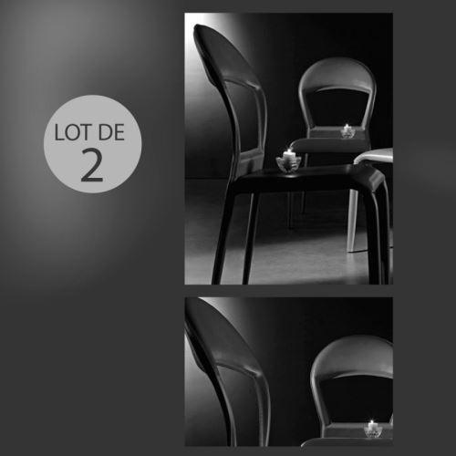 Lot de 2 chaises design Baudelaire noir