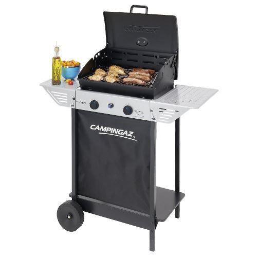 Barbecue gaz CAMPINGAZ XPERT100L+ Rocky Cuisson pierre de lave cuisson 44 x 34 cm 2 tablettes latérales + housse offerte
