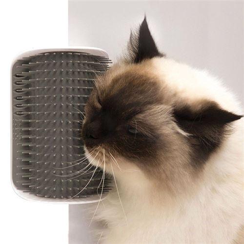 Brosse d'angle de toilettage pour chat.
