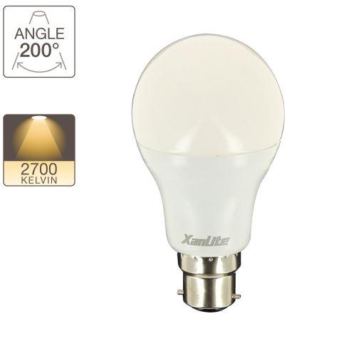 Globe LED A60, cuLot B22, classique