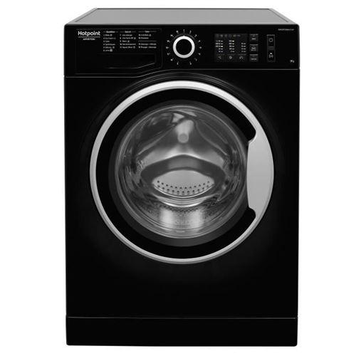 Hotpoint Ariston NM10 924 BS FR - Machine à laver - indépendant - largeur : 59.5 cm - profondeur : 60.5 cm - hauteur : 85 cm - chargement frontal - 62 litres - 9 kg - 1200 tours/min - noir