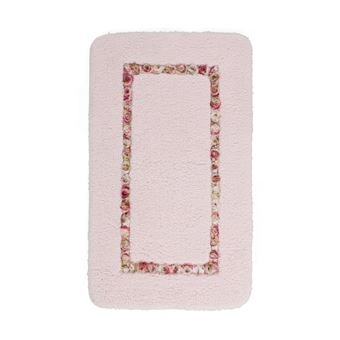 Tapis de salle de bain rose lavable en machine doux candy - Achat ...