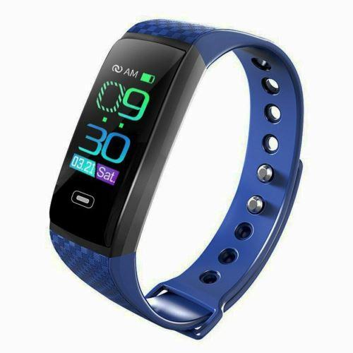 Montre Connectée Femmes Homme Bracelet Connecté Cardiofréquencemètre Smartwatch Podomètre Fitness Tracker D Activité Tension Bleu Montre Connectée Achat Prix Fnac