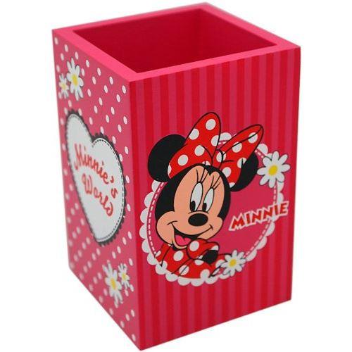 Disney plumier Minnie Mouse girls 14 x 9 cm bois rouge
