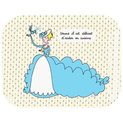 Plateau Princesse en robe Petit Jour Paris Mélamine Beige