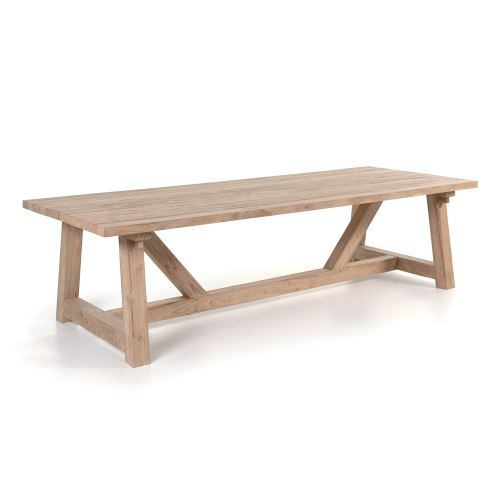Table rectangulaire teck massif recyclé 300 x 120 cm coventry