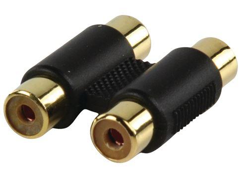 Valueline Ac-027 Adaptateur d'or 2x Rca Kontra Plug - 2x Rca Kontra Plug avec des contacts plaqués o