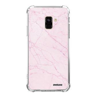 Coque pour Samsung Galaxy A8 2018 anti-choc souple angles renforcés Marbre rose Evetane [Evetane®]