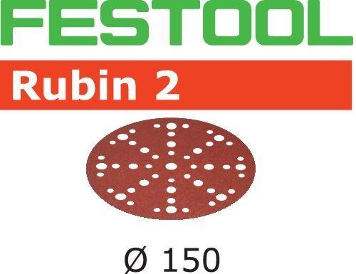 Lot de 10 abrasifs stickfix Ø150mm pour bois Rubin 2 STF D150/48 P100 RU2/10 FESTOOL 575181