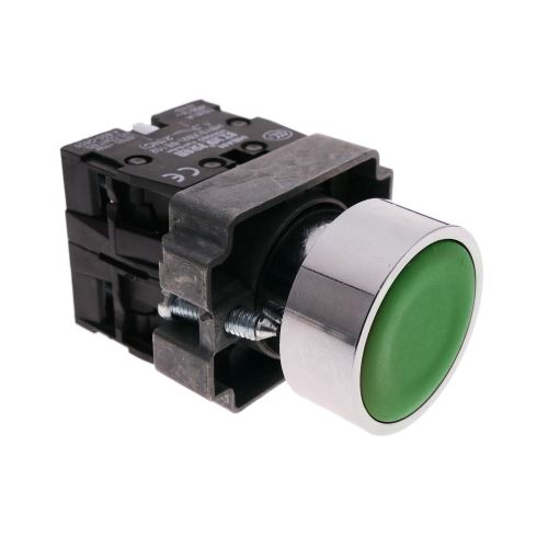 Bouton poussoir momentané 22mm 1NO 1NC 400V 10A normalement ouvert et fermé vert