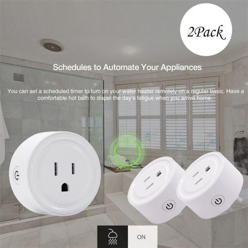 Smart WiFi Prise d'alimentation US Plug commutateur pour Amazon Alexa / Accueil Google App contrôle wedazano339