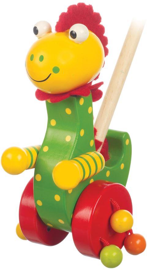 Orange Tree Toys Jouets En Bois A Pousser - Dinosaure