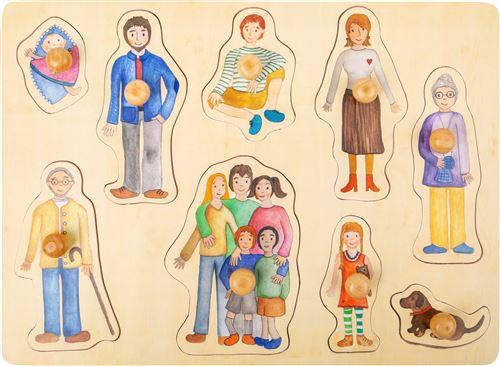 Small Foot puzzle de forme Famille bois junior 9 pièces