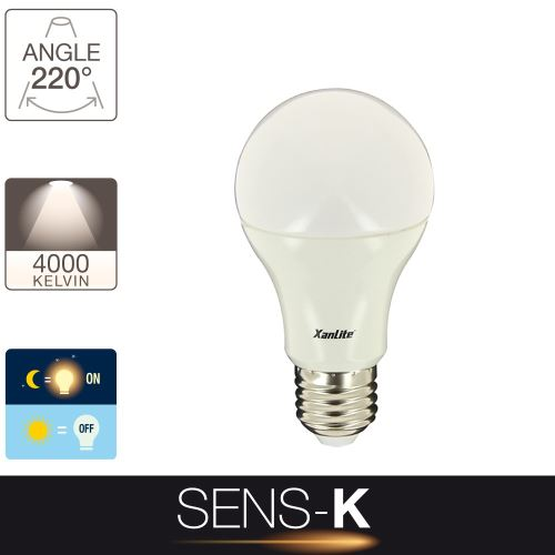Ampoule LED SENS-K - cuLot E27 - détecteur de luminosité