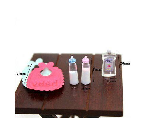 1:12 poupées maison miniature bébé biberons shampooings Set pépinière accessaire