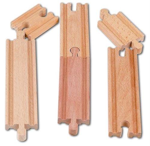 Assortiment de rails en bois - accessoire circuit train en bois