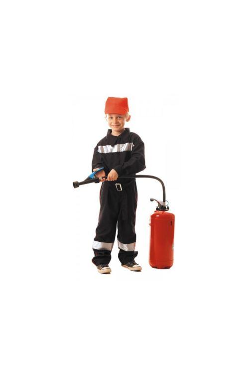 Costume Pompier Enfant - Noir - 7/9 ans