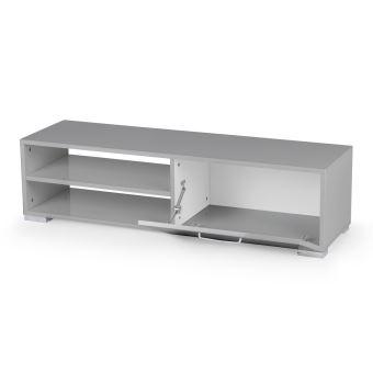 201 sur meuble tv viola 130 x 40 x 355 cm gris meuble tv achat prix fnac