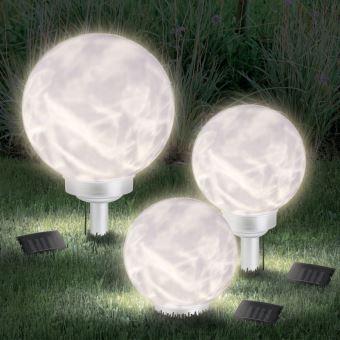 Cm Led Boule Luminaires 25 Extérieur Lampe Solaire Avec Rotative POkn0w