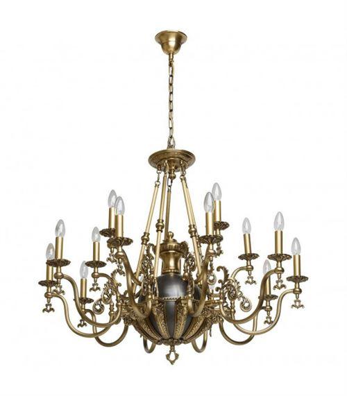 Chandelier laiton Classic 15 ampoules 205 Cm