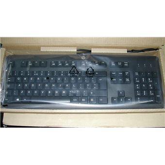 HP 672647 033 Anglais Britannique USB QWERTY Noir Clavier Claviers (Standard, avec Fil, USB, Clavier à Membrane, QWERTY, Noir)