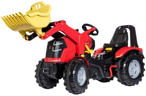 Rolly Toys escaliers tracteur frein à main RollyX-Trac Premium rouge