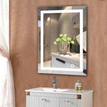 Miroir Salle Bain avec éclairage Intégré LED 60*80cm