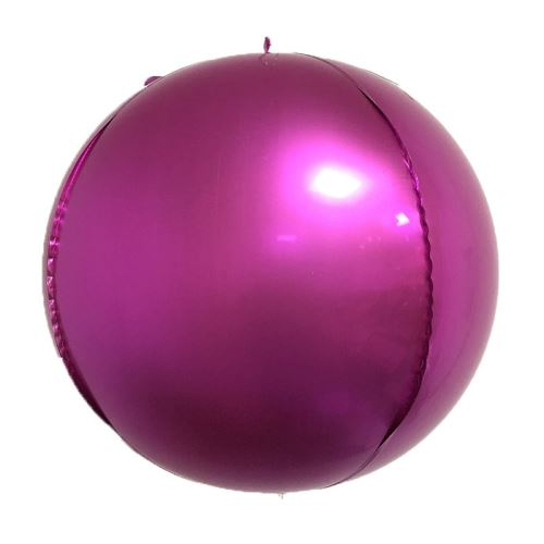 10 pcs Ballons en Aluminium 10 Pouces pour Noël Soirée Maison Jardin Fete Mariage - Rose foncé