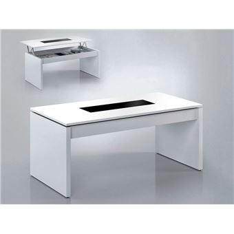 Habitdesign 0t1638bo Table Basse Relevable Finition En Blanc