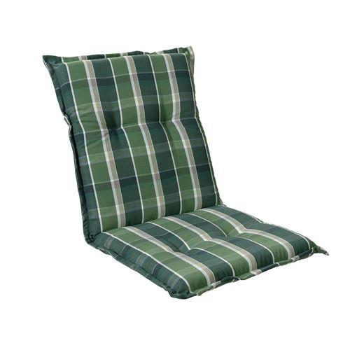 Coussin de chaise de jardin -Blumfeldt Prato -103 x 52 x8 cm -1 pièce -Vert/Gris
