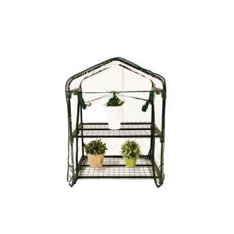 Mini Serre de Jardin Botanique 2 étagères 69x49x95cm
