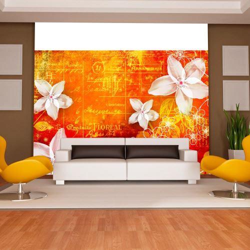 Papier peint - Floral notes II - Décoration, image, art | Fonds et Dessins | Motifs floraux |