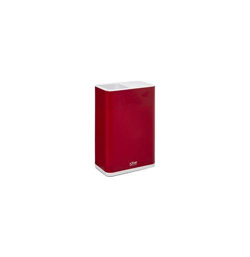 Pot range-couverts 2 en 1 - L 16.6 x l 10 x H 23.7 cm - Rouge