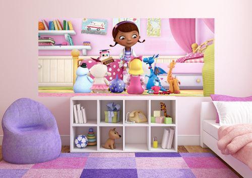 Disney Docteur La Peluche Panorama Papier Peint dècoration pour la Chambre d'enfants 202x90cm