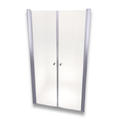 Porte de douche 185 cm largeur réglable 116-120 cm Transparent