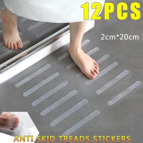 Autocollants transparents anti-dérapant pour salle de bain