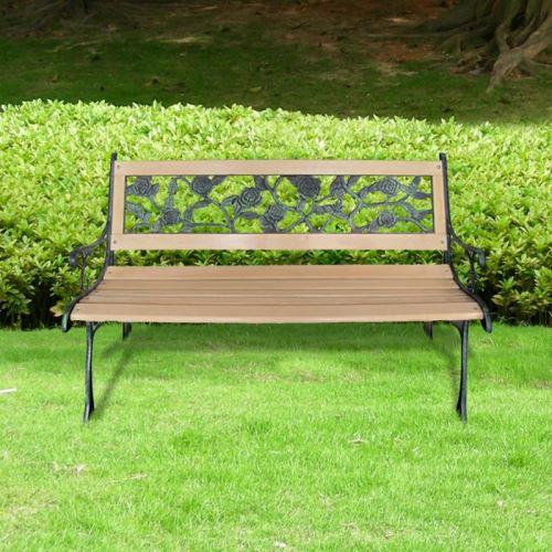 Casasmart - Banc de jardin à motif floral en métal