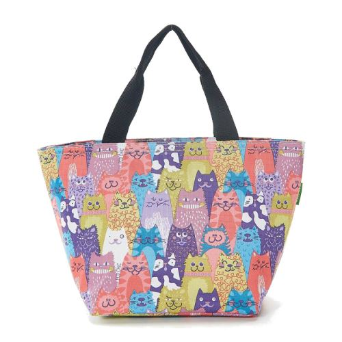 Eco Chic Lunch Cool Bag - Plusieurs couleurs de chats mélangés