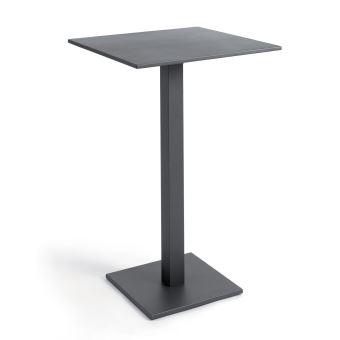 anthracite alu cm Table Otrante 70 pliante carrée haute nwN0OkX8P