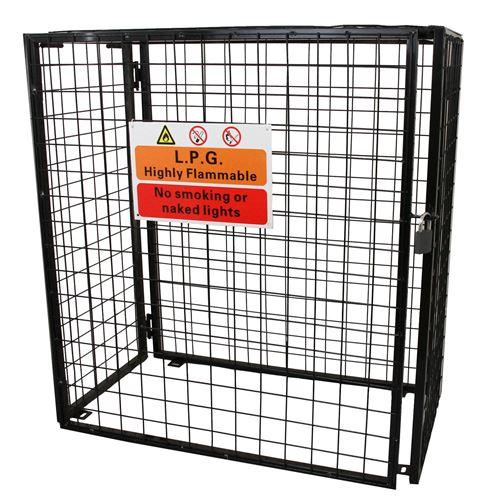 Cage Métallique de 118cm de large pour Bouteilles de Gaz
