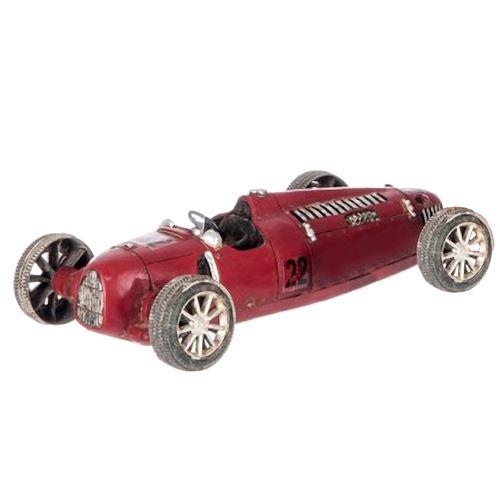 Figurine décorative en résine vieille voiture modèle rouge