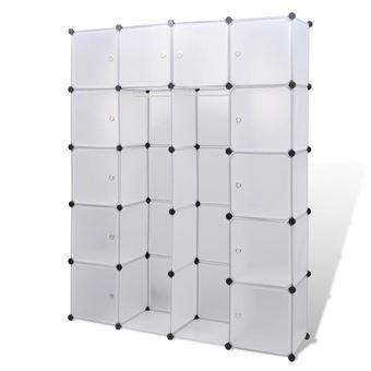 Armoire Penderie Cube Modulable Etagere De Rangement Vetement En Plastique 14 Compartiments 37 X 150 X 190cm Achat Prix Fnac