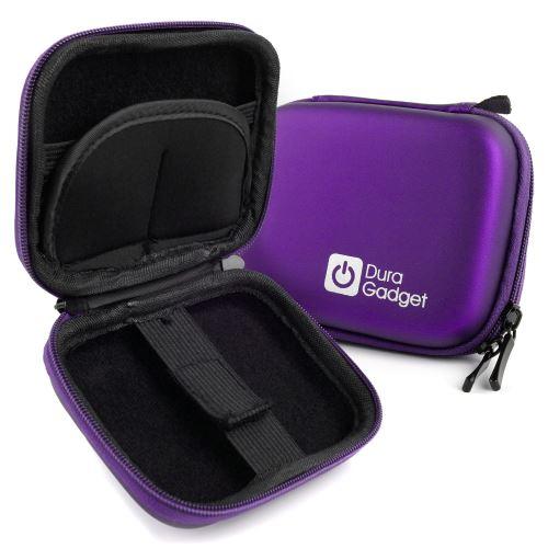 Duragadget Etui Housse Rigide Violet pour Nikon Coolpix A10 et A100, Sony DSC-W810B et Polaroid iE12