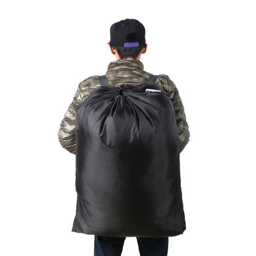 24 X36 Sac à linge en polyester noir Sac à dos Sac de rangement de voyage Cordon