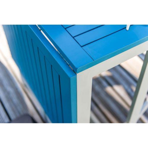 console pliante jardin Table BURANO CITY Bleu de GREEN lagon TK1cFlJ3