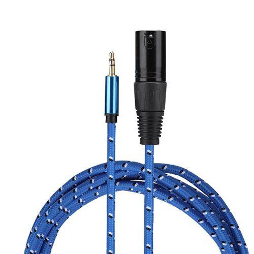Câble audio 3 mètres 3.5mm stéréo mâle à XLR mâle adaptateur câble audio Patch