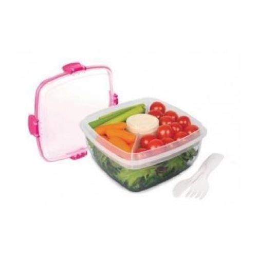 SISTEMA Boîte alimentaire carrée a clips Salad To Go - 1,1L