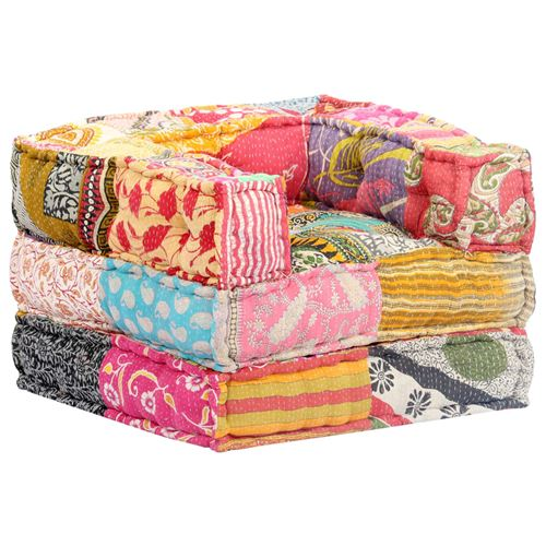 Chunhe Pouf modulaire Patchwork Tissu AB249414